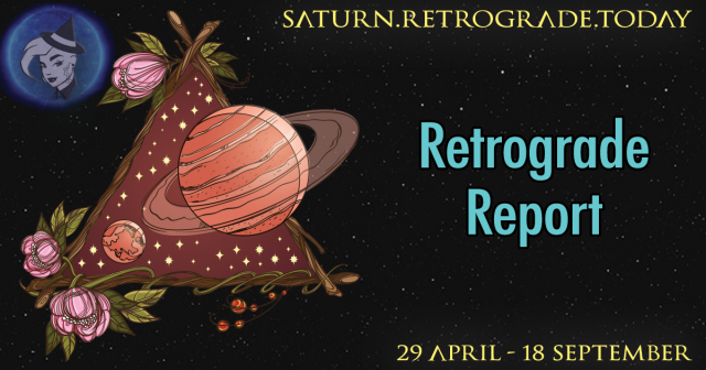 Saturn retrograde ends today!
