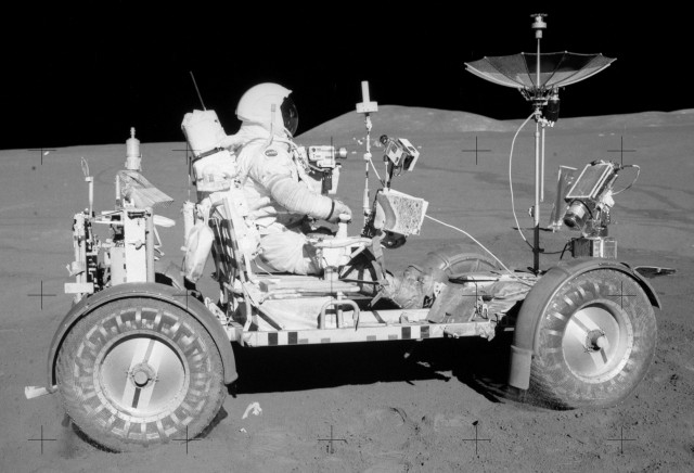 Taking a Ride on the Moon in the Lunar Roving Vehicle