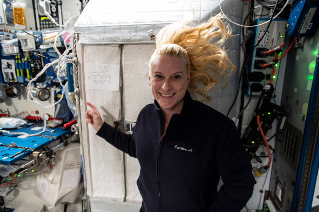 NASA Astronaut Kate Rubins Casts Her Vote from Space