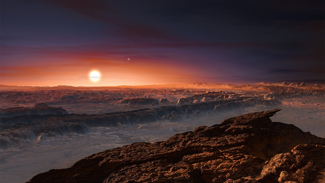 Artist's View of a Planet Where Liquid Water Might Exist
